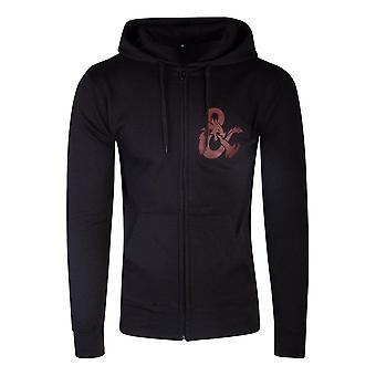 Hasbro Dungeons & Dragons Iconic Logo Zipper Hoodie Male Large Black