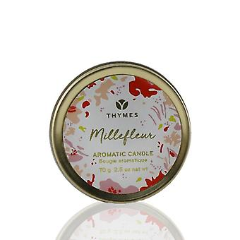 Thymes Aromatic Candle (travel Tin) - Millefleur - 70g/2.5oz