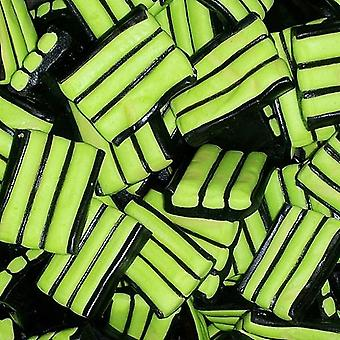 5 Bags of 170g Bag of Apple Flavour Stiped Liquorice