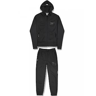 Money Clothing C Fit Cotton Hooded Zip Up Black Tracksuit