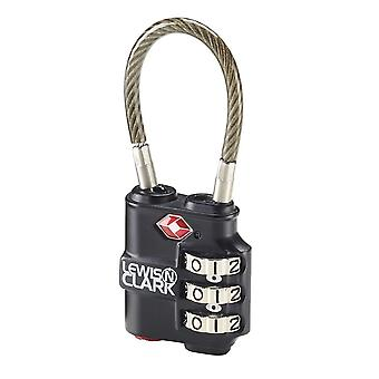 Lewis N. Clark Travel Sentry Indicator Heavy-Duty Cable Lock #TSA100