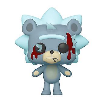 Rick ja Morty Pop! Vinyyli Figurine 662 Teddy Rick LIMITED sininen/punainen, 100% muovia, Funko, lahja paketointi.