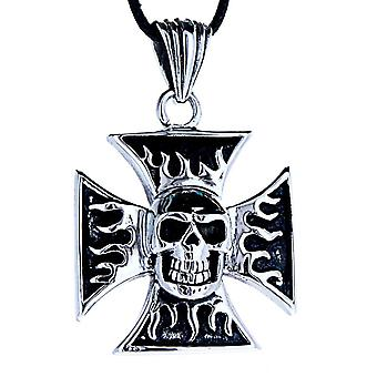 Wisiorek 100 żelazny krzyż - stal nierdzewna