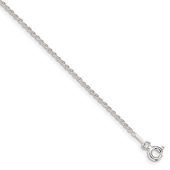 925 εξαιρετικά ασημένια 1.3 mm στερεά δώρα κοσμήματος βραχιολιών αστραγάλων αλυσίδων σχοινιών για τις γυναίκες-μήκος: 7 έως 10