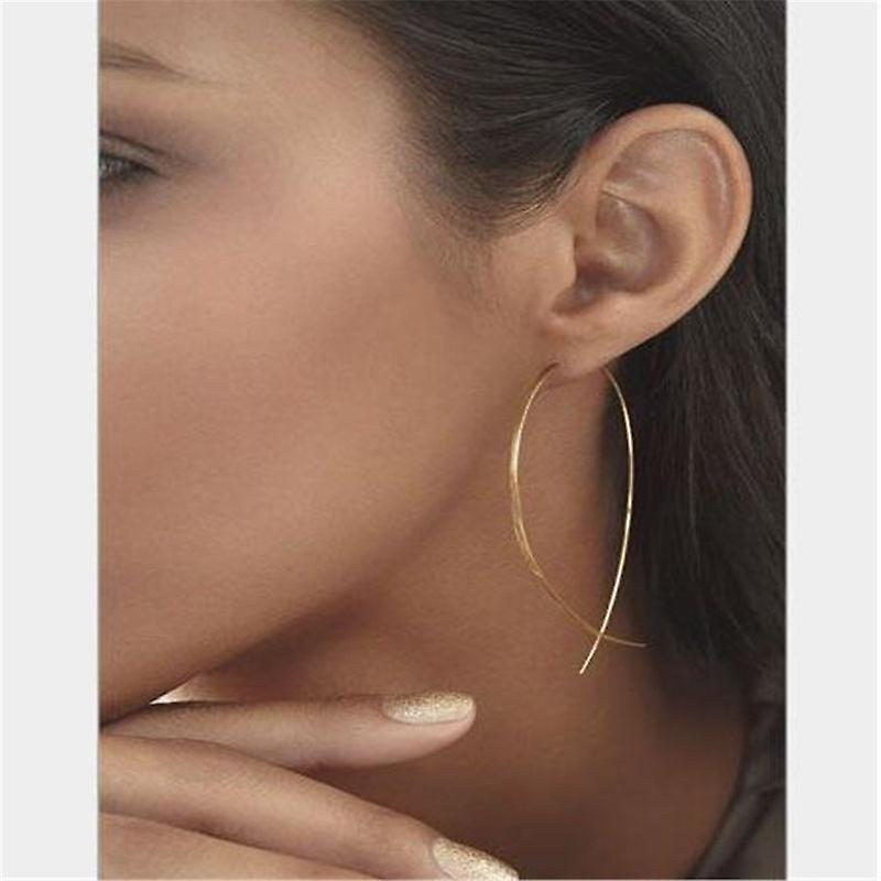 Gold Twisted Wire Earrings for all Faces