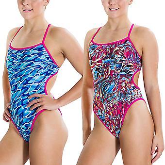 Speedo Naisten Flipturns käänteinen käännettävä yksiosainen uima puku - multi