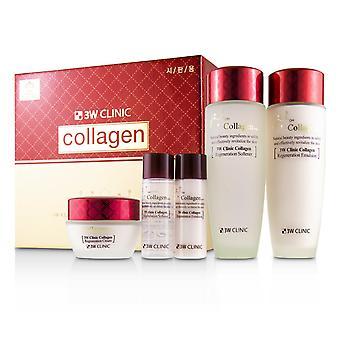 3 w Klinik Kollagen Hautpflege Set: Weichmacher 150ml + Emulsion 150ml + Creme 60ml + Weichmacher 30ml + Emulsion 30ml 228265 5pcs