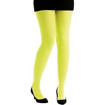 Kousen en been accessoires panty fluorescerende gele