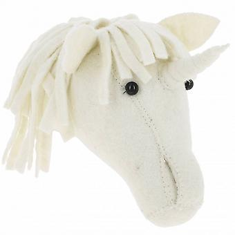Fiona Walker England Baby Unicorn Felt Animal Wall Head