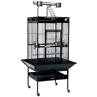 Ica Black Park Cage with Outside Foot (Birds , Cages and aviaries , Cages)