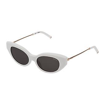 Mulberry Emma SML005 0847 Shiny White Snow/Smoke Sunglasses
