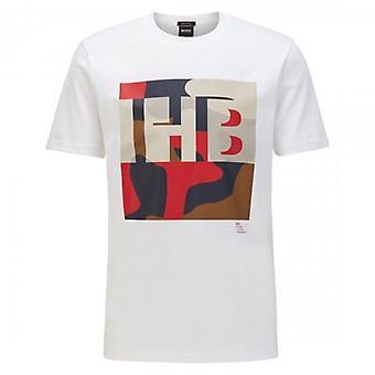 Hugo Boss Tiburt 161 Monogram Camo Logo T-skjorte Hvit 100 50426065
