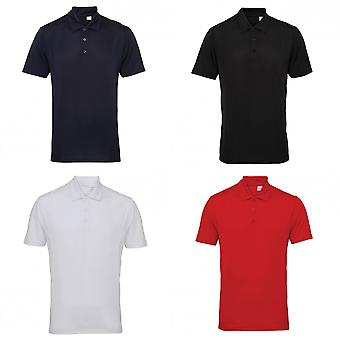 Tri Dri Mens Panelled Short Sleeve Polo Shirt