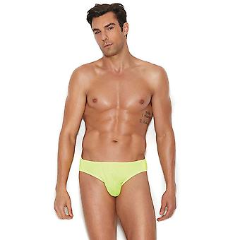 Mens Thong Back Neon Green Chartruse Underwear Brief