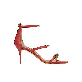Ninalilou Ezgl449001 Women's Red Leather Sandals