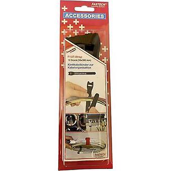FASTECH® 803-330C Corbata de cable de gancho y bucle para la agrupación Gancho y almohadilla de bucle (L x W) 304 mm x 16 mm Negro 10 ud(s)