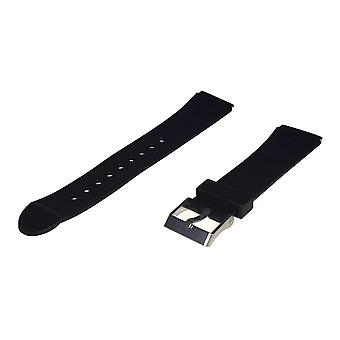 Diving watch strap 20mm (22mm overall width) stainless steel buckle style 3