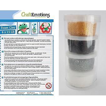 CraftEmotions Foamball clay - Festive set 4 x 23gr Air dry