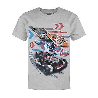 Skylanders Superchargers Characters Grey Boy's T-Shirt