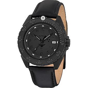 KHS Wristwatch الرجال المنفذ الأسود تيتان XTAC CR حزام الجلود- KHS. ENFBTCRXT. ل