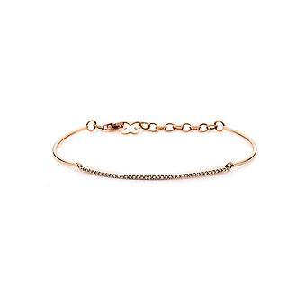 Bracelet Bracelet Diamant - 18K 750/- Rouge or - 0.2 ct.