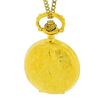 Philip Mercier Gents Goldtone Pocket Watch On 28 Inch Chain NFP13A