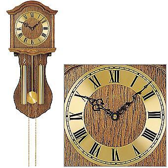 AMS 248/4 horloge murale avec pendule mécanique bois chêne horloge à domicile pendule