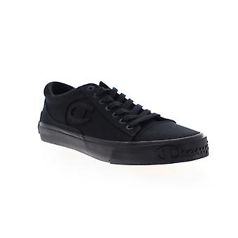 Champion Metro LO  Mens Black Canvas Lace Up Low Top Sneakers Shoes