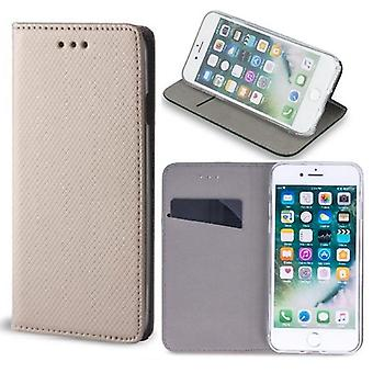 Sony Xperia M5 - Smart Magnet Case Mobile Wallet - Guld