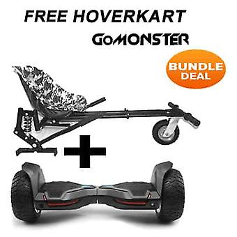 "8.5"" G2 PRO Monster Black All Terrain Bluetooth Segway Hoverboard mit monster Kart in Camo"