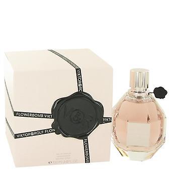 Flowerbomb Eau De Parfum Spray By Viktor & Rolf 3.4 oz Eau De Parfum Spray