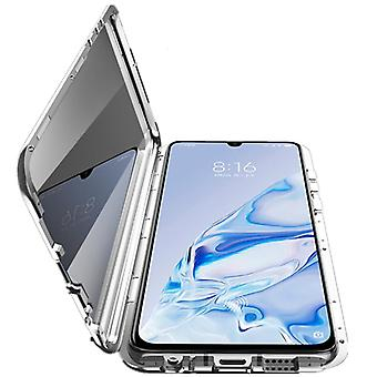 Mobile shell with double-sided tempered glass for Xiaomi Mi 9 SE - Silver