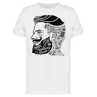 Tattoo Style Bearded Man Tee Men's -Image by Shutterstock