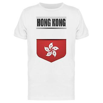 Hong Kong Flag Shield Graphic Tee Men's -Image by Shutterstock