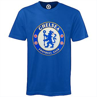 Chelsea FC Boys T-Shirt Crest Kids OFFICIAL Football Gift