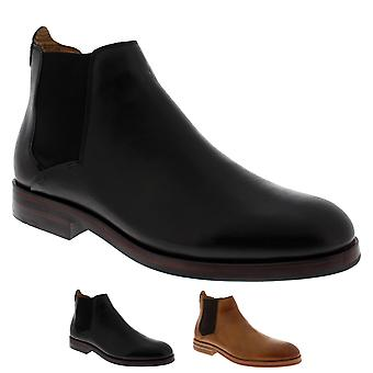 Mens H By Hudson Tonti Calf Leather Smart Formal Chelsea Ankle Boots