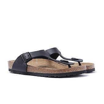Birkenstock Black Leather Gizeh Sandal