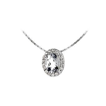 Jacques Lemans - Sterling Silver Necklace with White Topaz - SE-C116A