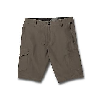 Volcom Men's Pantalones cortos de carga - SNT Dry Cargo 21 carbón