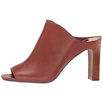 Steven by Steve Madden Womens Jeanny Leather Peep Toe Casual Mule Sandals