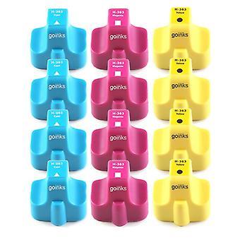 4 kompatible Sets von 3 C/M/Y HP 363 (HP363XL) Druckertintenpatronen (Farbset)