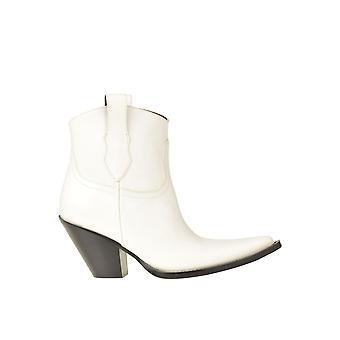 Maison Margiela Ezgl038132 Women's White Leather Ankle Boots