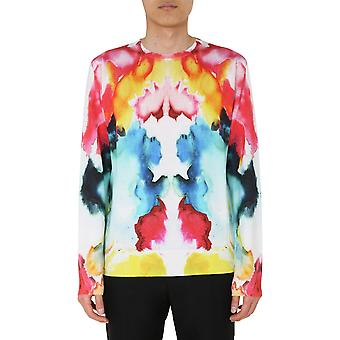 Alexander Mcqueen 610656q1dbx9062 Mænd's Multicolor Bomuld Sweater