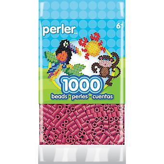 Perler Striped Beads 1,000/Pkg-Cherry