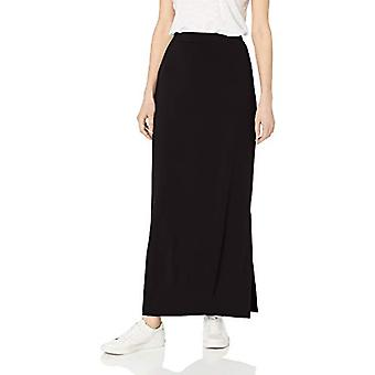 Brand - Daily Ritual Women's Supersoft Column Skirt, Black,Small