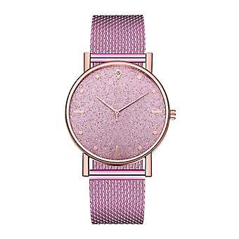 HEZHUKEJI Watch Quartz Ladies - Luxury Anologue Movement for Women Pink