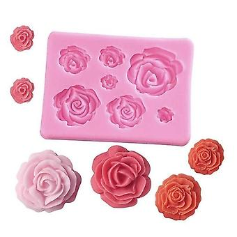Handmade 3d Rose Flower Shape Silicone Soap Mold - Form Chocolate Cake Fondant