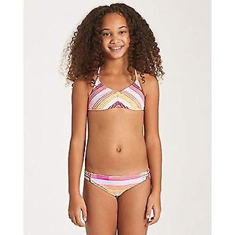 Billabong Girls-apos; Big Ray of Sun Tali Two Piece Swim Set, Multi, 8