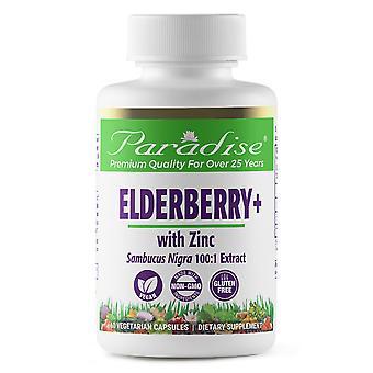 Paradise Herbs, Earth's Blend, Sureauberry+ avec zinc, 60 capsules végétariennes