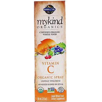 Jardín de la Vida, MyKind Orgánicos, Spray Orgánico de Vitamina C, Naranja-Tangerina, 2 fl